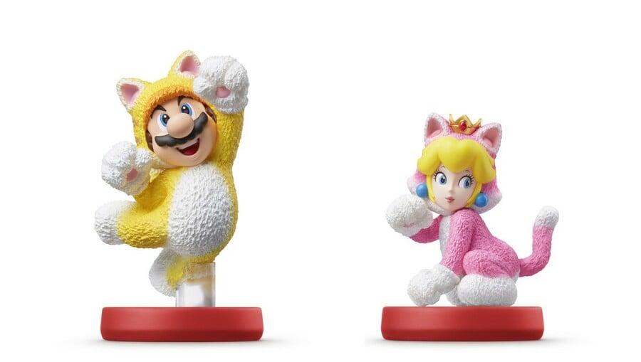 Cat Mario and Cat Peach