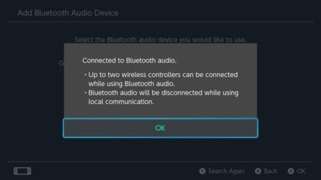 4. Nintendo Switch συνδεδεμένο με ήχο Bluetooth