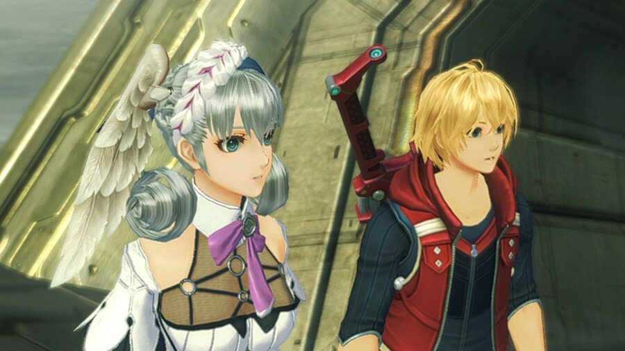 Melia, on the left, is voiced by Doctor Who star Jenna Coleman.