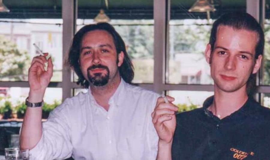 David with Martin Hollis
