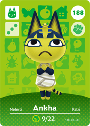 Ankha amiibo card