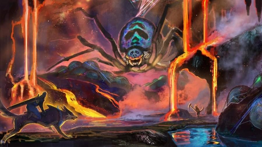 Monster Hunter Rise Lava Caverns Concept Art