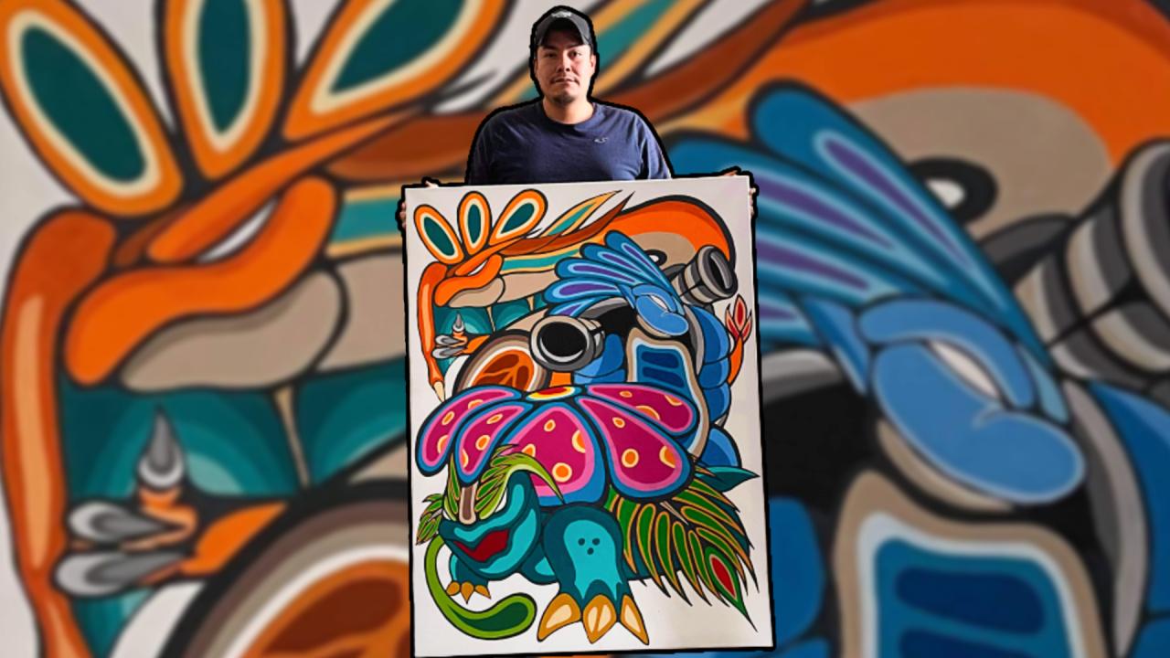 Random: Indigenous Canadian Artist Interprets Pokémon In A Traditional Style