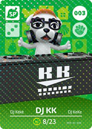 DJ KK amiibo card