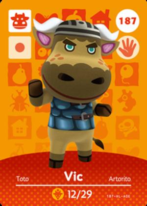 Vic amiibo card