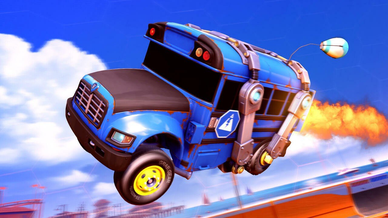 The Fortnite Battle Bus Drops Into Rocket League's Very First Free-To-Play Event Later This Week