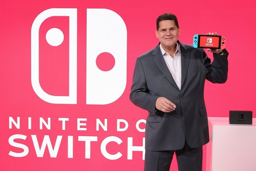 Reggie Fils-Aime at the Nintendo Switch Preview Event