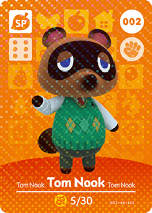 Tom Nook amiibo card