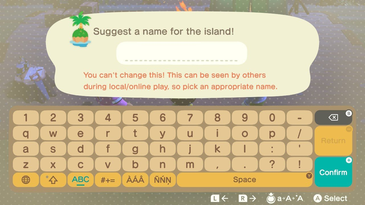 Animal Crossing New Horizons Island Name Advice Why Can T You