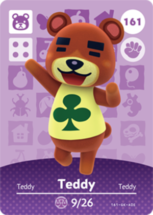 Teddy amiibo card
