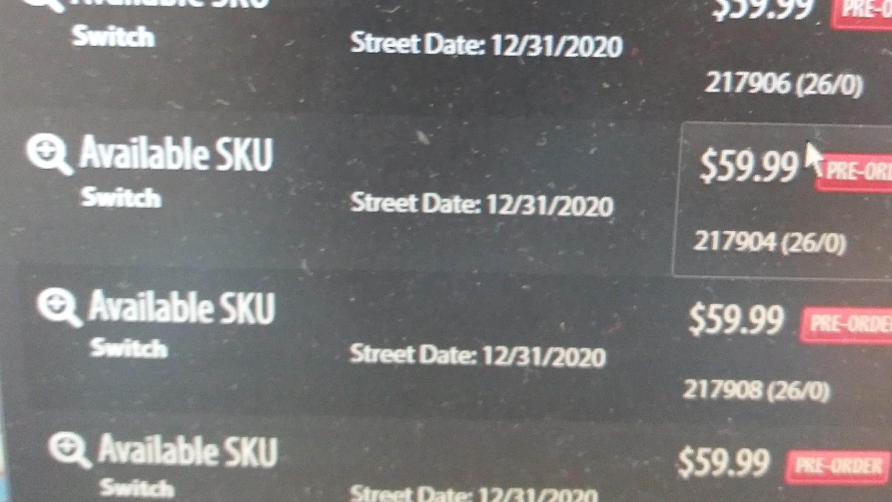 Gamestop S Internal Database Lists Multiple New Skus For Nintendo