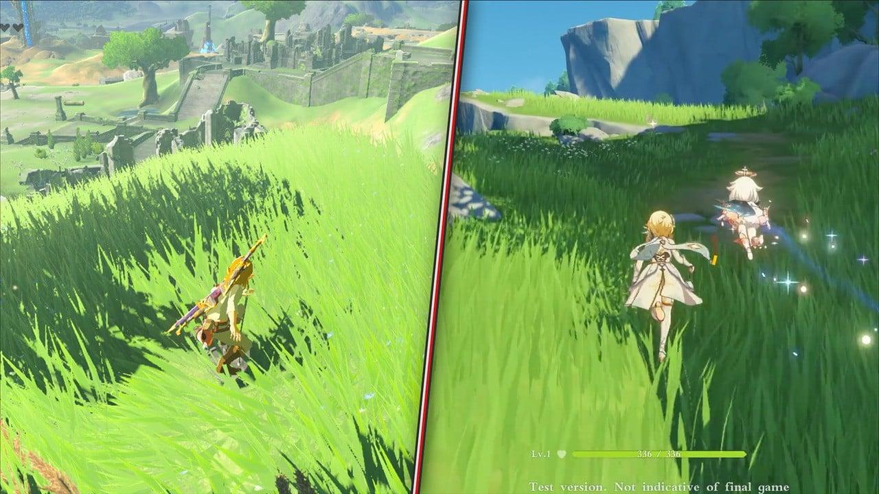 Video: Comparing Zelda: Breath Of The Wild Clone Genshin Impact To The Original