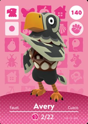 Avery amiibo card