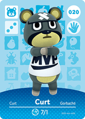 Curt amiibo card