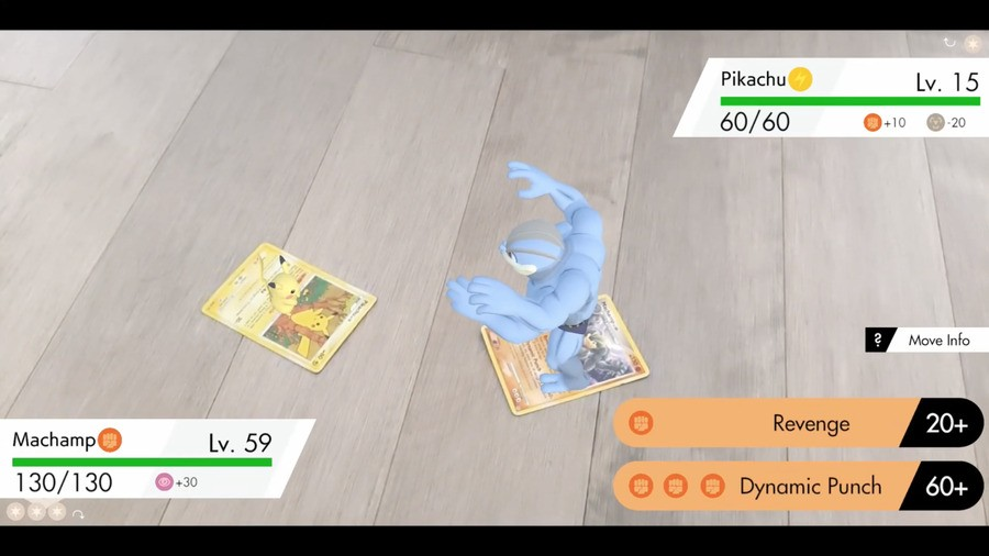 Pikachu and Machamp do battle thanks to some clever AR trickery...