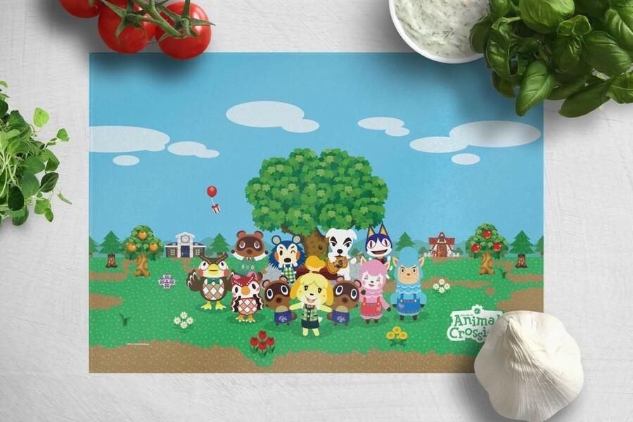 Animal Crossing Cutting Board