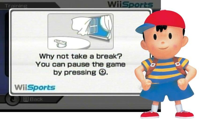 EarthBound Wii Why not take a break screen