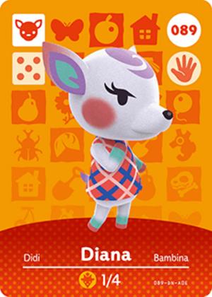 Diana amiibo card