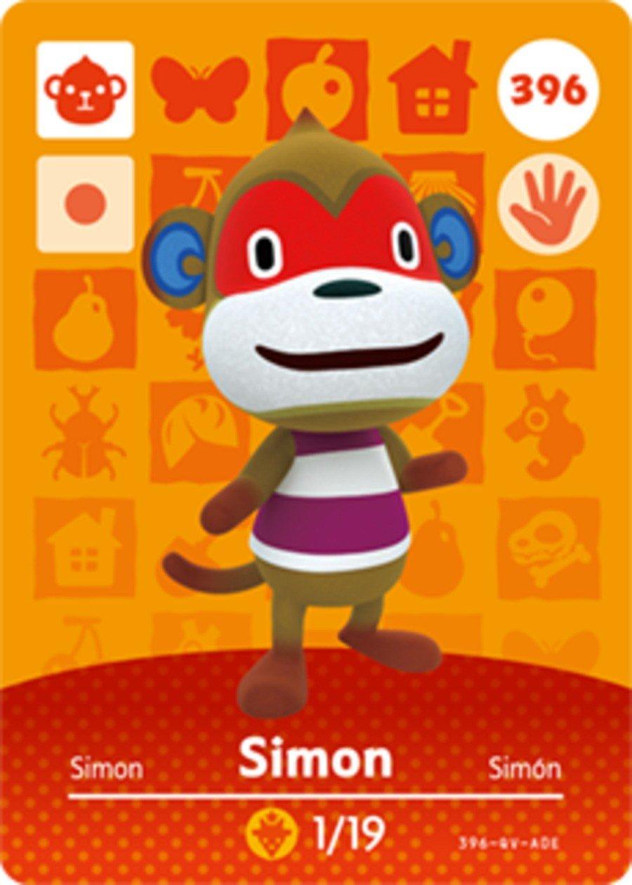 Simon Animal Crossing Amiibo Card