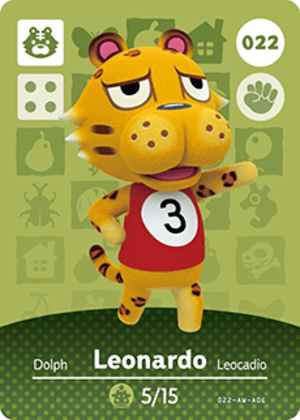 Leonardo amiibo card