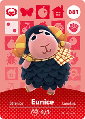 Eunice amiibo card