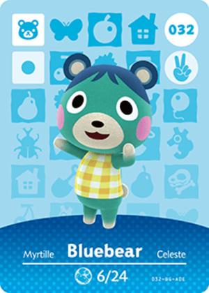 Bluebear amiibo card
