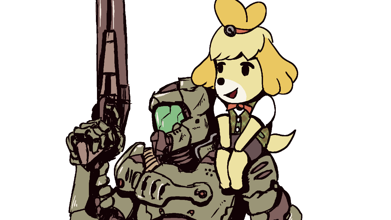 Random Doomguy And Isabelle Are Fast Becoming 2020 S Most Wholesome Duo Nintendo Life
