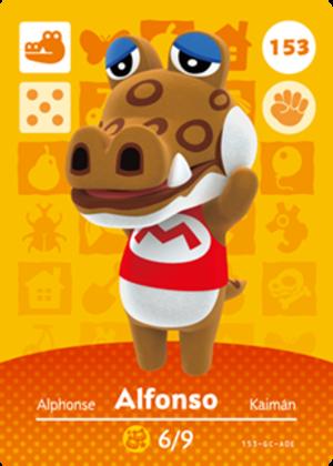 Alfonso amiibo card