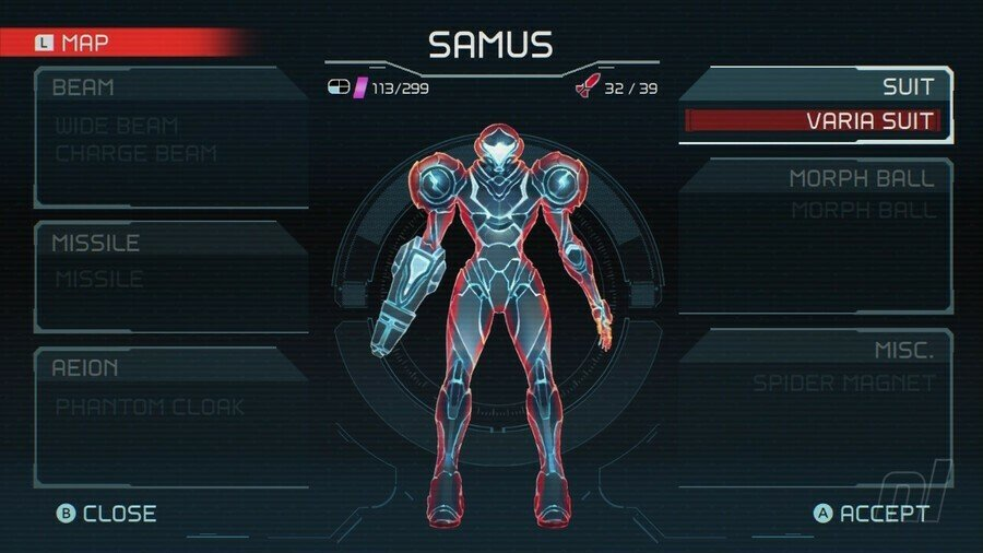 Metroid Dread Varia Suit