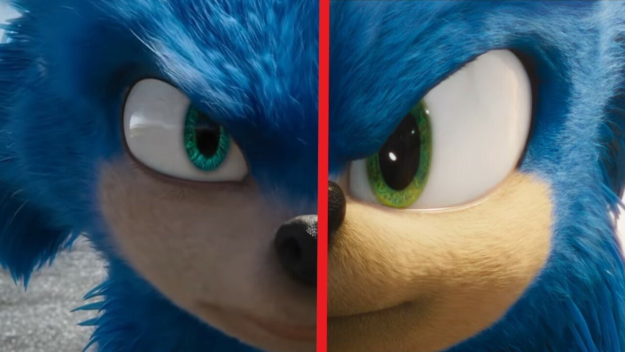Gallery Sonic Movie Trailer Comparison Pics Check Out Before And After Sonic S Redesign Nintendo Life