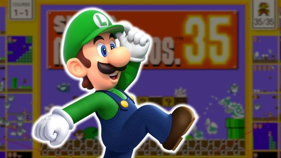 Luigi in Super Mario Bros. 35