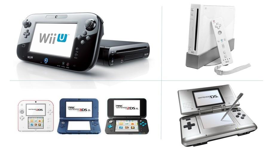 Wii U, Wii, 3DS, DS