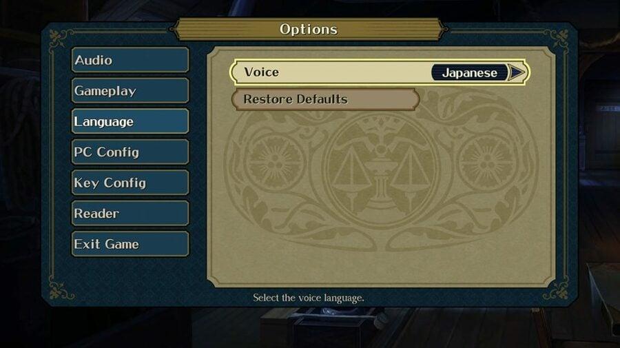 Voice options