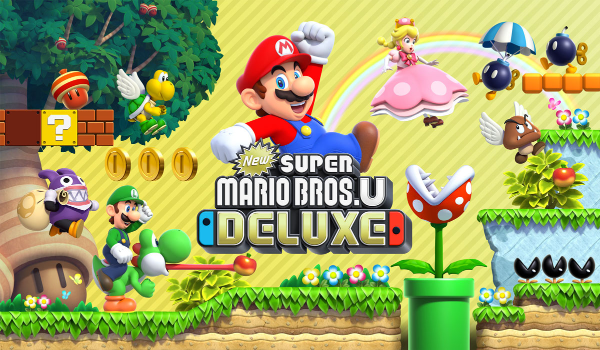 UK Charts: New Super Mario Bros. U Deluxe And Mario Kart 8 Deluxe Fight To Stay In The Top Ten