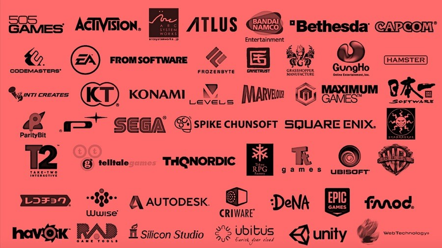 A selection of Nintendo Switch partners