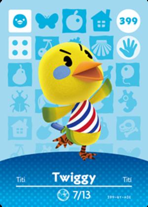Twiggy amiibo card