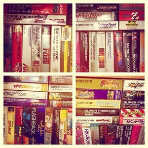 Lots of Super Famicom games.