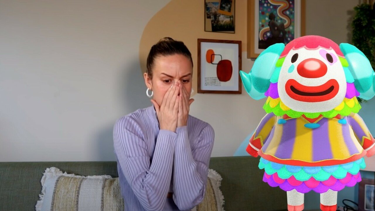 Random: Brie Larson Doesn't Want To Be The Clown Villager From Animal Crossing