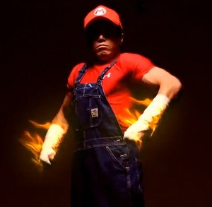 Mario has clearly been working out