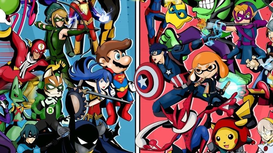 Smash Bros. x Marvel DC