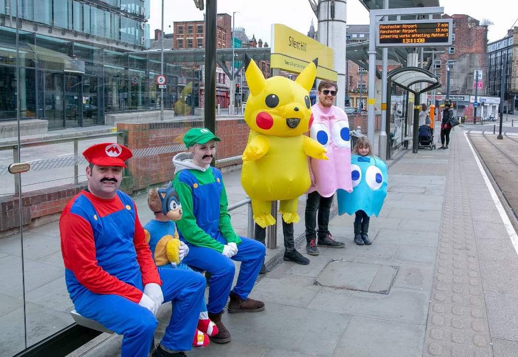 Random: Mario And Friends Cause Metrolink Mayhem In Manchester