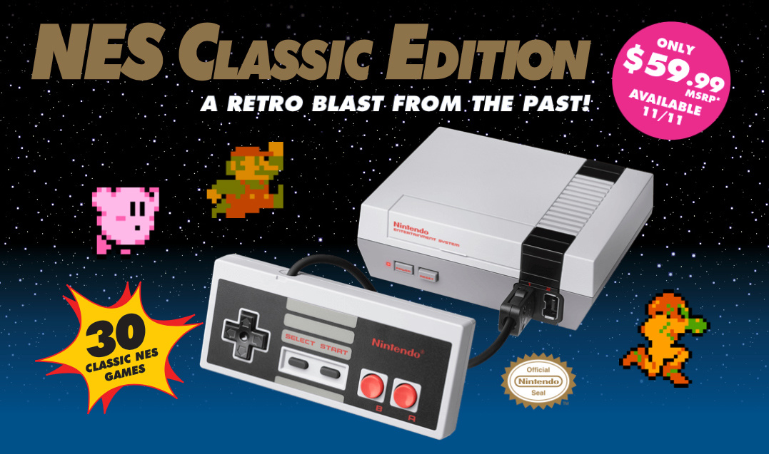 Guide: Where To Preorder The Nintendo Entertainment System: NES Classic Edition In The USA