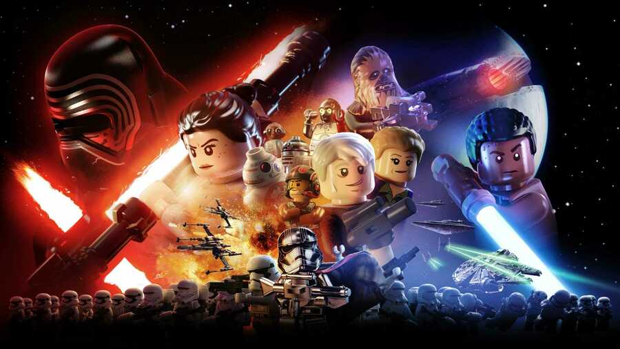 A promotional image for LEGO Star Wars: The Force Awakens