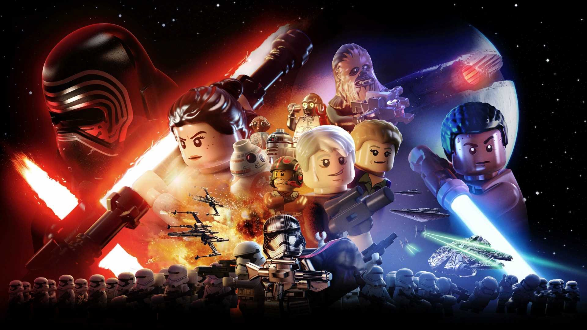 A promotional image for LEGO Star Wars The Force Awakens