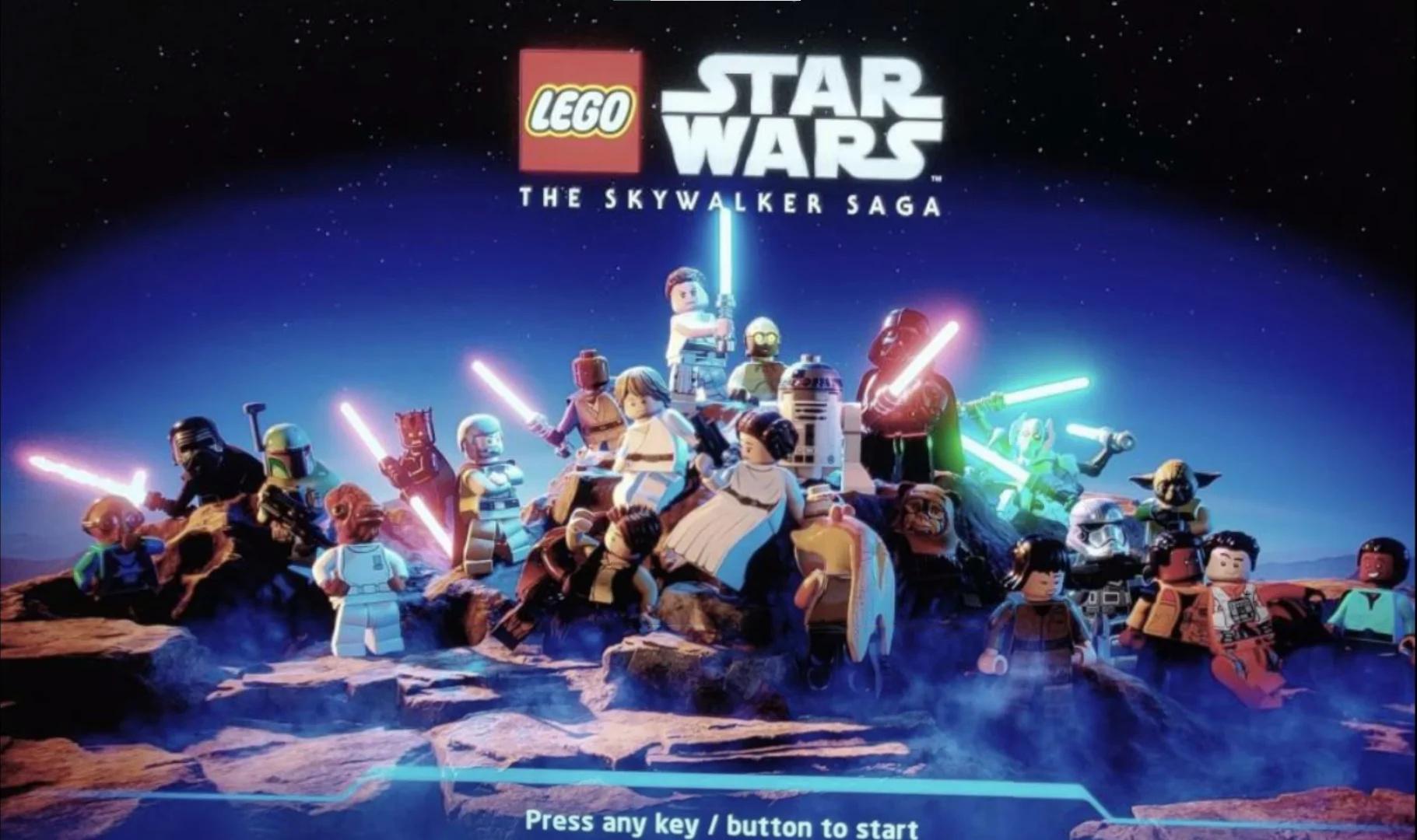 Start Menu Screen For Lego Star Wars The Skywalker Saga Supposedly Leaked Nintendo Life