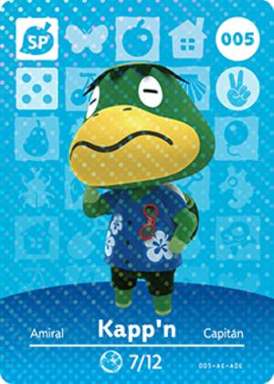 Kapp'n amiibo card