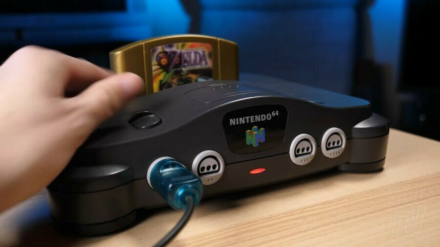 N64 Console And Majora's Mask