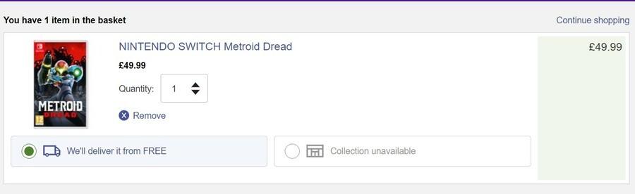 Metroid Dread Currys 49.99