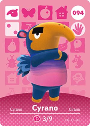 Cyrano amiibo card