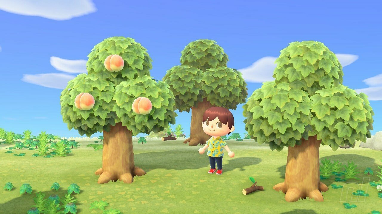 Animal Crossing New Horizons How To Cut Down And Move Trees Collecting Hardwood Softwood And Wood Explained Nintendo Life
